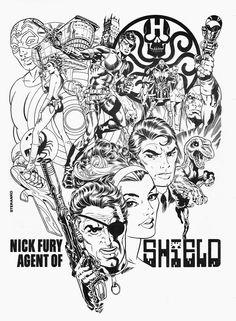 """Nick Fury"" by Jim Steranko.  #steranko #nickfury"