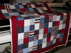 Quilt of Valor that I longarm quilted