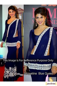Pavitraa #Blue or White #Bollywood #Lehenga Style #Sarees