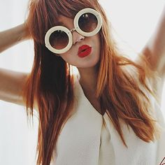 - Description - Measurements - Shipping - Womens oversized round sunglasses that feature elegant metal temples and a bold rimmed circular frame that kind of resembles a delicious donut. These aestheti