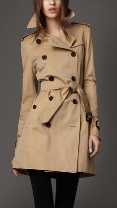 On my wish list. Burberry London women's short gabardine trench coat