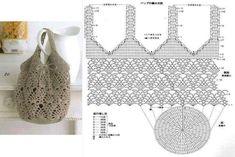 Free Crochet Bag Patterns Part 23 - Beautiful Crochet Patterns and Knitting Patterns Crochet Video, Crochet Diagram, Crochet Chart, Filet Crochet, Knit Crochet, Free Crochet Bag, Crochet Pouch, Crochet Market Bag, Crochet Shell Stitch