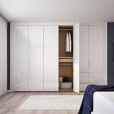 [한샘] 아이즈 붙박이장 화이트 하이글로시 행거형(18종/택1) Bedroom Closet Doors, Bedroom Nook, Wardrobe Design Bedroom, Small Room Bedroom, Modern Bedroom, Sliding Door Wardrobe Designs, Wardrobe Doors, Closet Renovation, Simple Bedroom Design