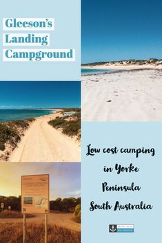 Gleeson's Landing campground is one of many low-cost campgrounds in Yorke Peninsula, South Australia. Find out here why we thought it was so good, and why we'll be back again! Australia Tours, South Australia, Australia Travel, Road Trip Hacks, Camping Hacks, Solo Travel, Travel Tips, Budget Travel, Adventure Activities
