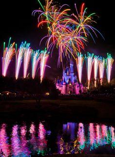 Fireworks at the Magic Kingdom -- WDW