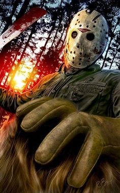 Horror Movie Art : Friday The 1980 Jason Voorhees by Rob Birchfield Jason Friday, Friday The 13th, Jason Voorhees, Horror Icons, Horror Films, Culture Pop, Geek Culture, Arte Horror, Horror Art