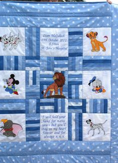Misi is UK's popular marketplace for handmade and vintage gifts. Embroidered Quilts, Applique Quilts, Blue Quilts, Scrappy Quilts, Quilting Projects, Sewing Projects, Sewing Ideas, Cath Kidston Quilt, Cot Quilt
