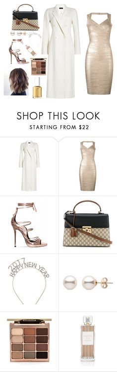 """New Year Party"" by go0d-vibes ❤ liked on Polyvore featuring Joseph, Hervé Léger, Gucci, Stila, Henri Bendel and Essie"