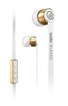 Sudio Klang white and gold headphones Office Desk, Door Handles, Smartphone, Headphones, Stationery, White Gold, Stuff To Buy, Collection, Product Design