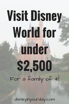 Visit Disney World for under $2,500