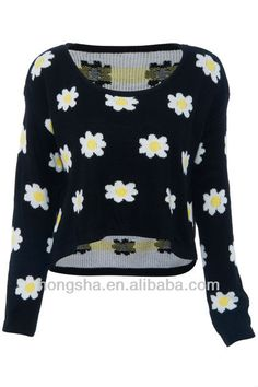#daisy print knitted jumper , #Knitted Jumper for women , #knitted christmas jumpers