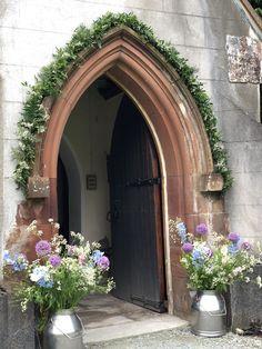 Garland and medium churns at Buttermere , Lake District wedding Arch Flowers, Lake District, Oversized Mirror, Garland, Medium, Wedding, Decor, Valentines Day Weddings, Decoration