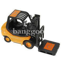 Mini-rc brinquedo de controle remoto de rádio empilhadeira caminhão carro novo - R$57.97
