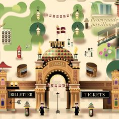 Tivoli Gardens Copenhagen - Summer 2013 by Mads Berg, via Behance