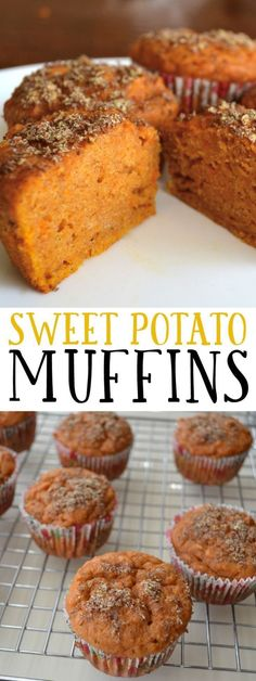 These muffins are super moist and packed with nutrients for a healthy, filling and delicious breakfast or snack. These muffins are super moist and packed with nutrients for a healthy, filling and delicious breakfast or snack. Healthy Baking, Healthy Desserts, Healthy Recipes, Healthy Sugar, Healthy Filling Meals, Healthy Protein, Healthy Food, Cuban Desserts, Healthy Finger Foods