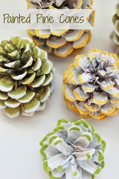 Painted Pine Cones|Delightfully Noted