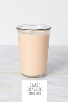 Orange Creamsicle Smoothie. To make it, blend together: 1 frozen banana, 1 orange, peeled or 1 clementines, peeled, 1/2 cup plain Greek yogurt, 1/2 teaspoon vanilla extract, 1 cup unsweetened milk (nut, soy, animal), honey or maple syrup, to taste.