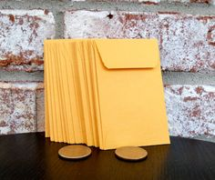 Kraft Coin Seed Envelopes 2 1/4 x 3 1/2 set by PurplePirateStudios