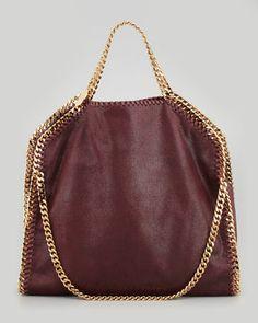 Falabella Fold-Over Shoulder Bag, Plum by Stella McCartney