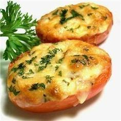 Baked Tomatoes With Cheese(5 minutes)
