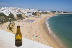 A cold Sagres beer with an awesome view on Praia dos Pescadores. What previously distinguished Albufeira in the eighties fishermen were still occupying the beach.