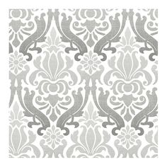 "Nouveau 18' x 20.5"" Damask Peel And Stick Wallpaper Roll"
