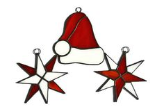 Christmas Holiday Decorations Set of 3 Stained by ZangerGlass