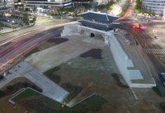 """28日、""""国宝1号""""崇礼門(スンネムン)復元工事の詰めの作業が真っ最中だ。"""