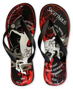 Musewear Unisex Sagittarius Flip Flops - http://shoes.goshopinterest.com/mens/sandals-mens/musewear-unisex-sagittarius-flip-flops/