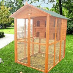 Outdoor Pigeon Coops | Wooden Pigeon Cage with Run, Made of Chinese Fir, 160 x 129 x 173cm ...
