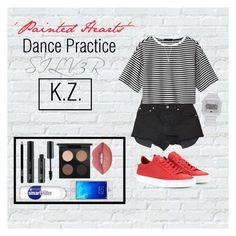 """""""《Painted Hearts Dance Practice》SILV3R'S K.Z."""" by mh-loves1d ❤ liked on Polyvore featuring Givenchy, Ksubi, TIBI, FACE Stockholm, MAC Cosmetics, Lime Crime, adidas and Vanessa Mooney"""
