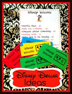 A great idea to help your children want to do their chores, earn some Disney souvenir money of their own, and learn the value of working for what they want!