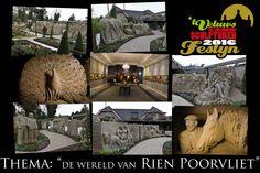 Kom naar 't Veluws Zandsculpturenfestijn in Garderen in 2016 vind je daar Zandsculpturen naar de tekeningen van Rien Poortvliet.