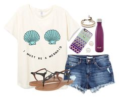 """I must be a mermaid"" by pineappleprincess1012 ❤ liked on Polyvore featuring H&M, Casetify, Cole Haan, S'well, Chan Luu and Blue Nile"