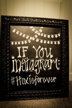 Cool idea to get all pictures from your wedding  Vintage, Chic, Unique Framed Chalkboard Wedding Sign @lisajean33