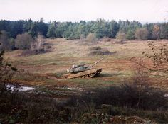 M1A1 in the Box at CMTC Hohenfels, Germany in Nov 2001