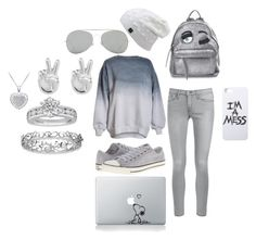 """""""Rainy Day"""" by kas3404 ❤ liked on Polyvore featuring Frame Denim, Converse, Chiara Ferragni, LAUREN MOSHI, Acne Studios, Rock 'N Rose, Tiffany & Co. and Effy Jewelry"""