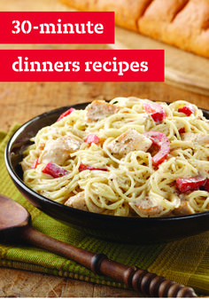 10 30-Minute Dinners – From skillet dishes to pastas, stir-fries to salmon, all these recipe ideas are easy dinnertime creations. Great for busy school nights, you are sure to enjoy getting the dinnertime dish to the table in no time!