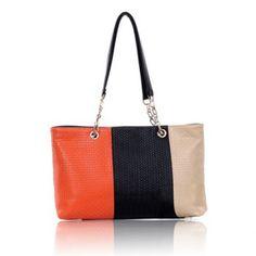 Cheap Wholesale Color Block and Link Chain Design Women's Shoulder Bag (JACINTH) At Price 9.79 - DressLily.com