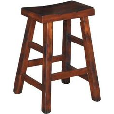 """Check out the Sunny Designs 1768DC Santa Fe 24""""H Saddle Seat Stool in Dark Chocolate priced at $105.00 at Homeclick.com."""