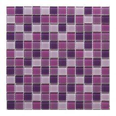 Mozaika szklana Colours 30 x 30 cm fioletowa