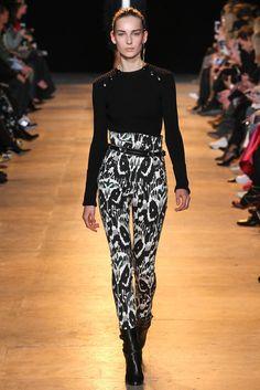 Tendance mode noir et blanc graphique Isabel Marant automne hiver 2015-2016