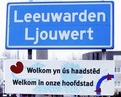 Plaatsnaambord Leeuwarden, die Friezen toch!