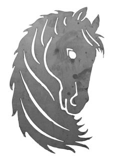 Horse cut out using a CNC Plasma Cutter from BurnTables.com