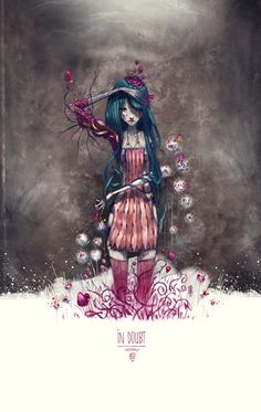 I Love this .. Amazing!!  In Doubt by moon , via Behance