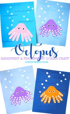 Handprint Octopus Craft