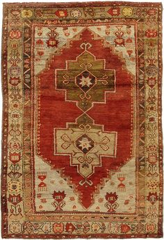 Product No: U-2958 Title: Vintage Oushak Rug Size: 4ft 05in X 6ft 04in Circa: 1940