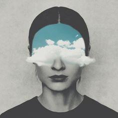 Imagen vía We Heart It #art #black #blue #cloud #clouds #draw #drawing #edit…