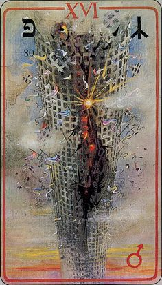 The Tower   - Haindl Tarot as a ny-er I found this card immediately disturbing because of the memories it brings back and what it represents.  would like to see the entire deck, which I will now search for.