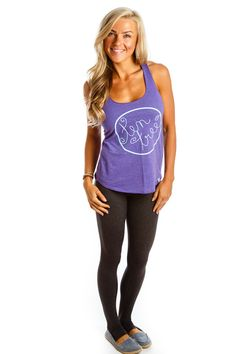 Ten Tree Tank Sporty, Purple, My Style, Outfits, Clothes, Fashion, Outfit, Outfit, Clothing